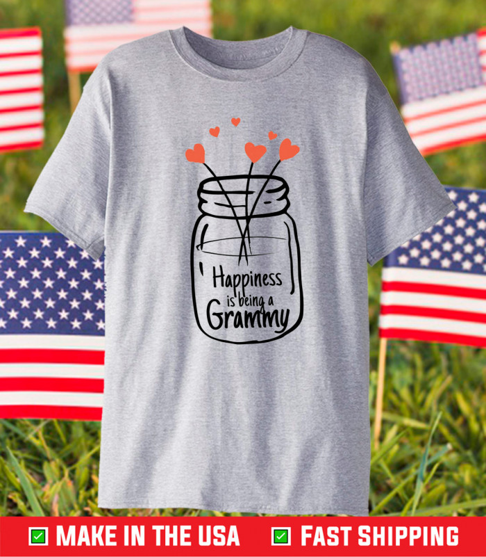 Happiness Being a Grammy Grandma Us 2021 T-Shirt