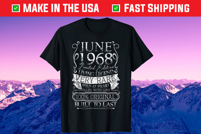 53rd Birthday Decorations June 1968 53 Years Old Unisex T-Shirt