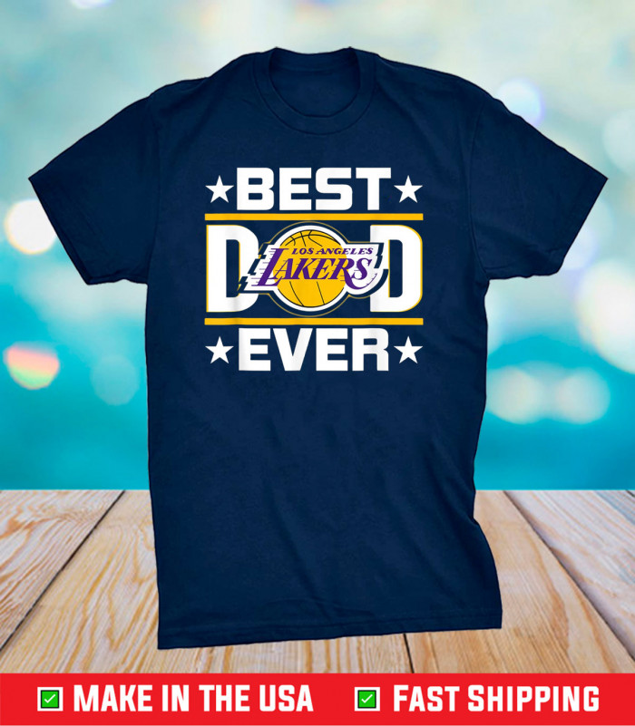 Best Lakers Dad Ever Fathers Day Us 2021 T-Shirt