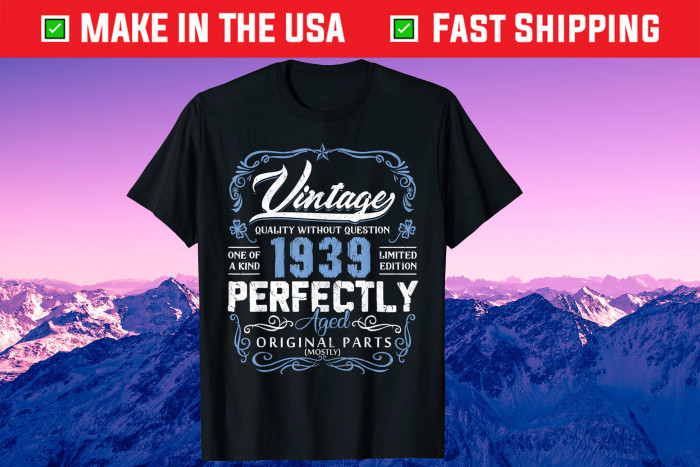 Vintage 1939 80th Years Old Birthday Made in 1939 Gift T-Shirt